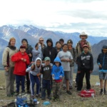 Group shot at the top of the mountain